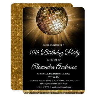 De gouden 40ste Bal van de Disco van de Partij van Kaart