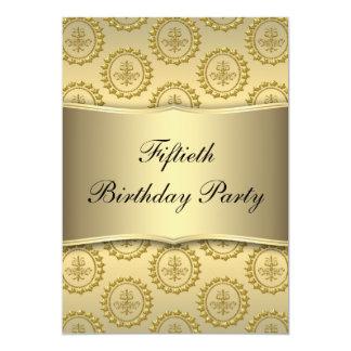 De gouden 50ste Partij van de Verjaardag 12,7x17,8 Uitnodiging Kaart