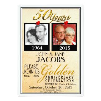 De gouden 50ste Uitnodigingen van het Jubileum van