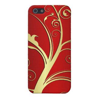 De gouden Abstracte Vector van de Boom iPhone 5 Cases