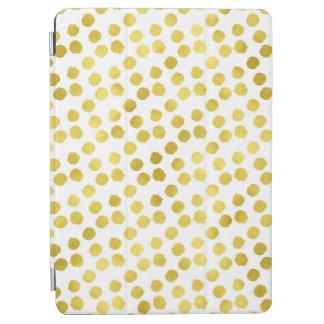 De gouden Achtergrond van de Folie van Faux van iPad Air Cover