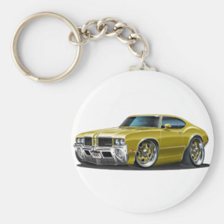 De Gouden Auto van de Machete van Olds Sleutelhanger