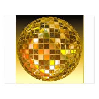 De gouden Bal van de Disco Briefkaart: zazzle.nl/disco+bal+kaarten