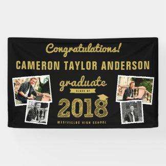 De gouden Banner van de Afstuderen van de Collage
