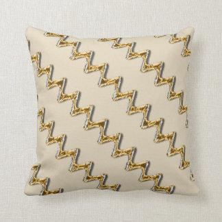 De gouden Beige Polyester van de Zigzag werpt Sierkussen