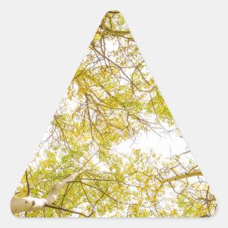 De gouden BosLuifel van de Esp Driehoekvormige Sticker