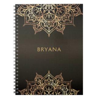De gouden Bruine Elegante Glamour Moderne Glam van Notitieboek