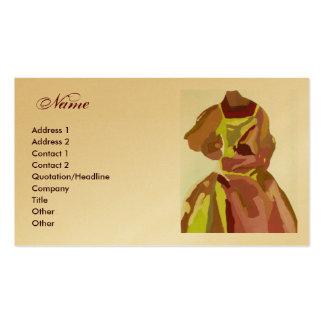 """De Gouden Bruine Kleding van de mode """"van de Ontwe Visitekaart Sjablonen"""