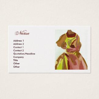 """De Gouden Bruine Kleding van de mode """"van de Visitekaartjes"""