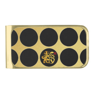 De gouden Chinese Zwarte Klem van het Geld van G Vergulde Geldclip