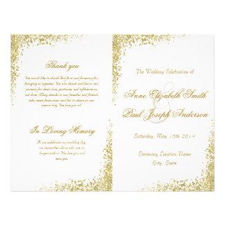De gouden confettien & schitteren gevouwen folder