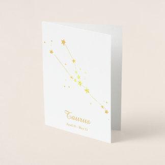 De gouden Constellatie van het Teken van de Folie Kaarten
