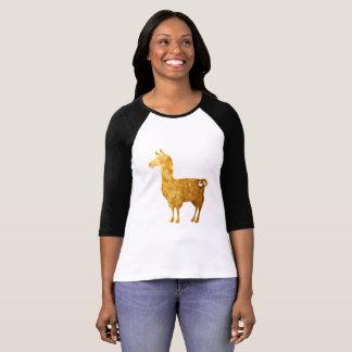 De gouden Dames van de Lama 3/4 T-shirt