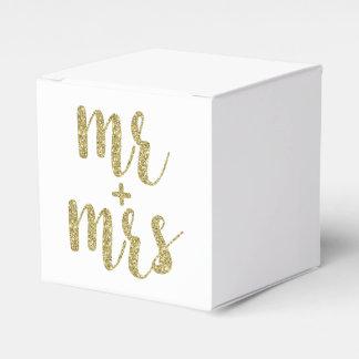 De gouden de gunstdozen van M. & van Mevr., Bedank Doosje Huwelijk