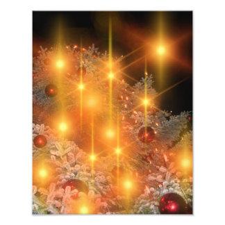 De gouden Decoratie van de Kerstboom van de Vakant Foto Prints