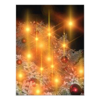 De gouden Decoratie van de Kerstboom van de Vakant Foto
