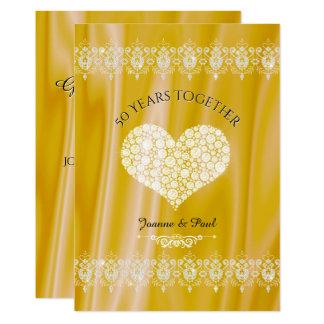 de Gouden Diamanten van de 50ste van het Huwelijk Kaart