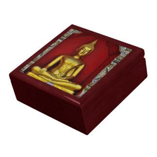 De gouden Doos van de Gift van het Mahonie van Boe Decoratiedoosje