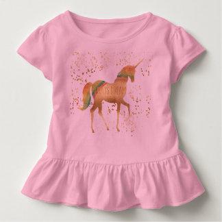 De gouden Eenhoorn van de Droom van de Regenboog Kinder Shirts