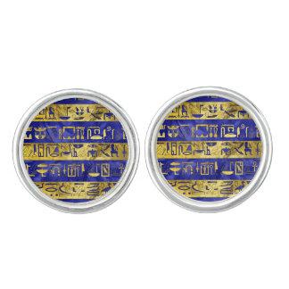 De gouden Egyptische arduinsteen van het Manchetknopen