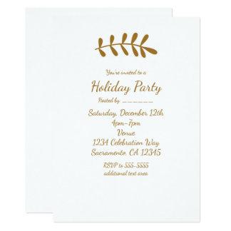 De gouden Elegante Eenvoudige Witte Uitnodiging