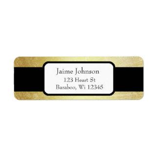 De gouden en Zwarte Elegante Sticker van het Adres