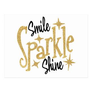 De gouden Fonkeling van de Glimlach glanst Briefkaart