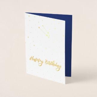 De gouden Gelukkige Verjaardag van de Constellatie Folie Kaarten