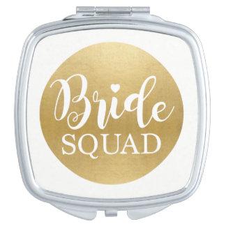 De gouden Gift van het Huwelijk van de Douche van Reisspiegeltje