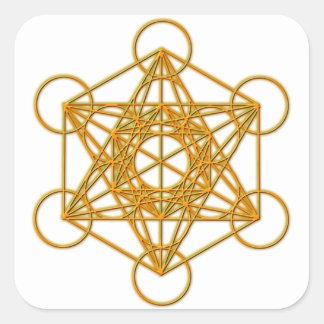 De Gouden Gloed van Metatron Vierkante Sticker