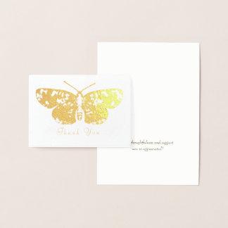 De gouden Grafische Uitgespreide Vleugels van de Folie Kaarten