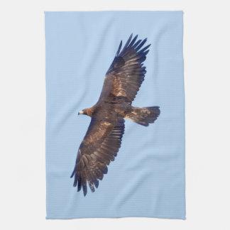 De gouden Handdoek van de Keuken van Eagle tijdens