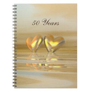 De gouden Harten van het Jubileum Notitieboek