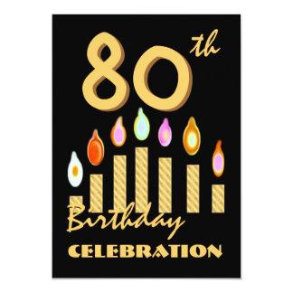 de Gouden Kaarsen van de 80ste - 89ste van de 12,7x17,8 Uitnodiging Kaart