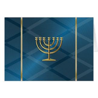 De gouden Kaart van de Chanoeka Menorah