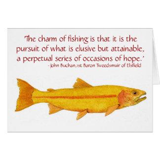 De gouden Kaart van de Forel van de Regenboog met