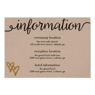 De gouden Kaart van de Informatie van het Document