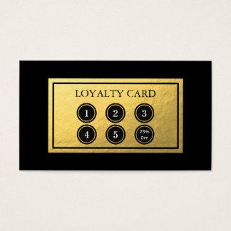 De gouden Kaart van de Loyaliteit van de Folie Visitekaartjes