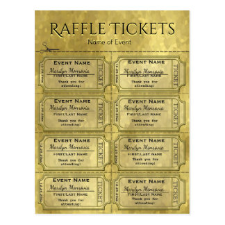 De gouden Kaartjes van de Loterij Glam Briefkaart