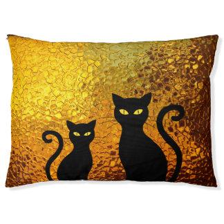 De gouden Katjes van de Kat van de Gloed Geweven Hondenbedden