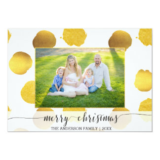 De gouden Kerstkaart van het foliestip Kaart