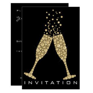 De Gouden Kristallen van de Cocktail van Champagne Kaart