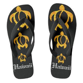 De Gouden Lava Honu Hawaï van LineA Teenslippers