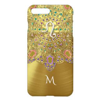 De gouden Leeuw Mandala van het Teken van de iPhone 8/7 Plus Hoesje