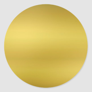 De gouden Lege Folie van Faux van de Sjabloon Ronde Sticker