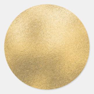 De gouden Lege Geweven Folie van Faux van de Ronde Sticker