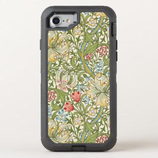 De Gouden Lelie van William Morris Bloemen OtterBox Defender iPhone 8/7 Hoesje