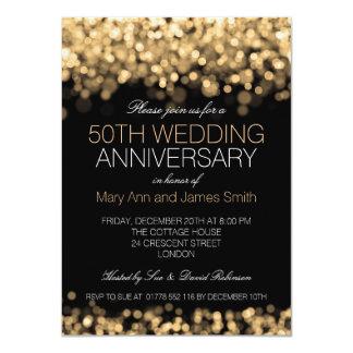 de Gouden Lichten van het 50ste Jubileum van het 11,4x15,9 Uitnodiging Kaart