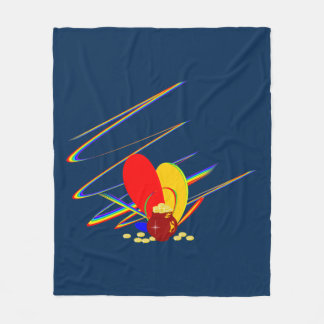 De gouden magische regenboog van geldANG Fleece Deken