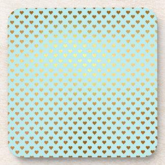 De gouden MetaalLiefde Blauwgroen Moderne Aqua van Onderzetter